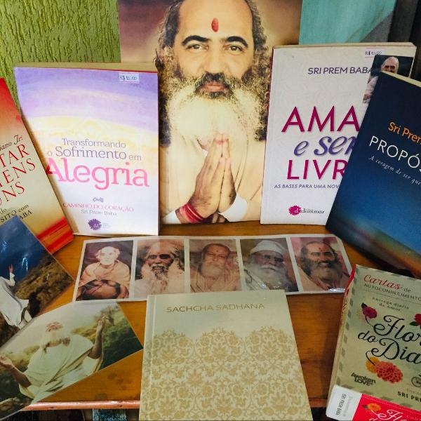 Kit sri prem baba livros e fotos espiritual