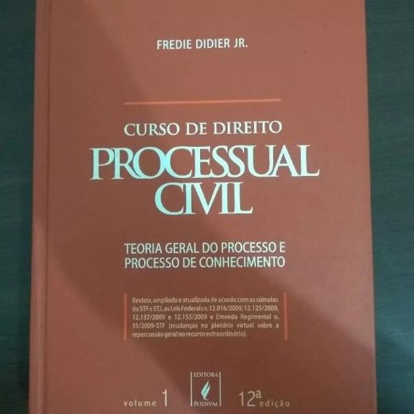 Livro curso de direito processual civil teoria geral vol 1
