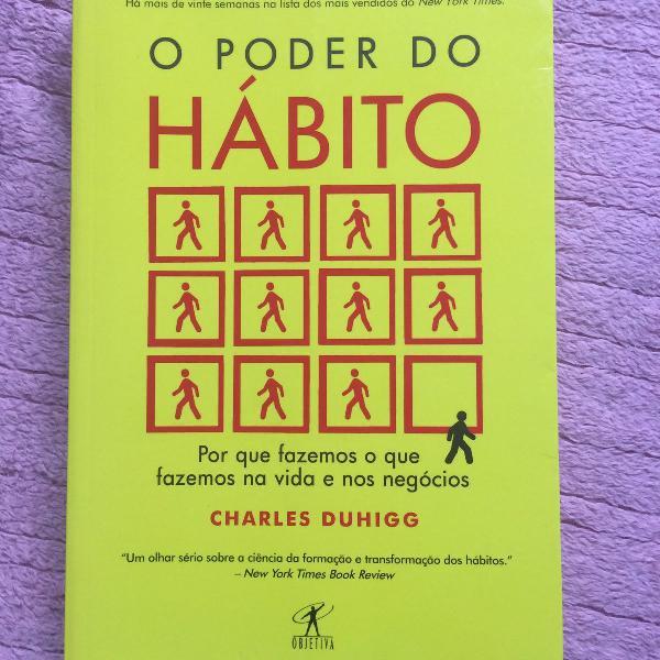 O poder do hábito - livro em ótimo estado