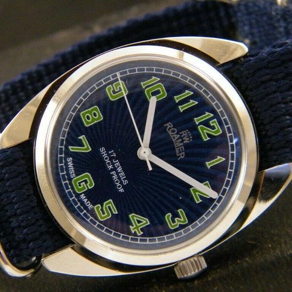 Relógio suiço vintage revisado roamer