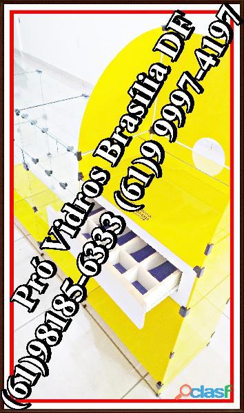 Vidro temperado em brasília,(61)9 8185 6333,no df,todos os modelos de balcao,prateleira,df,entorno