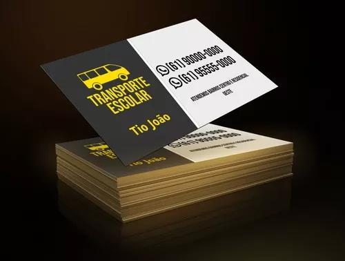 1000 cartões de visita 250g/m² verniz total frente