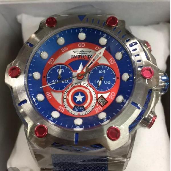 Black friday relógio invicta bolt capitão america marvel