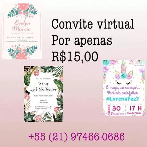 Convite virtual e cartão de visita
