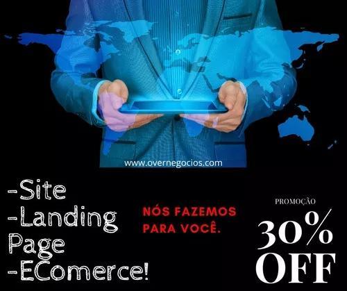 Criação de site/landing page/ e-comerce. preços