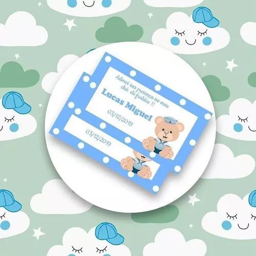 Etiquetas para chá de fralda e de bebê, saída de