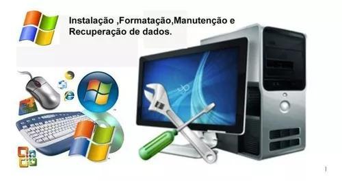 Formatação de computador e instalação de softwares