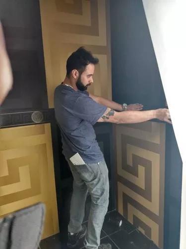Instalador aplicador papel de parede