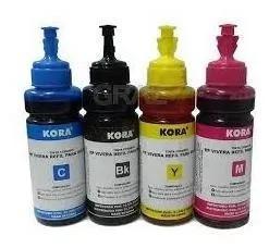 Kit tinta hp kora corante 4 cores 100ml cada.