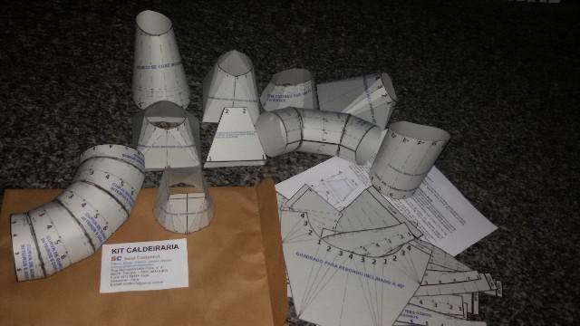 Kit didático de peças de caldeiraria