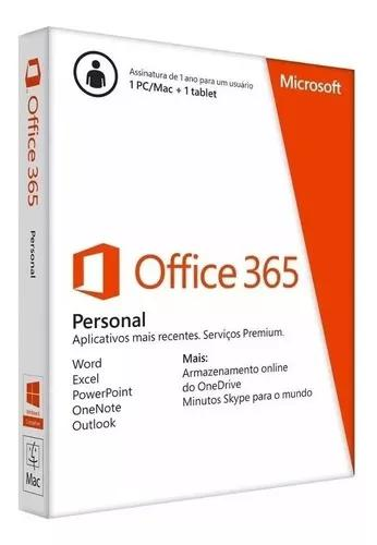 Microsoft office 365 personal word excel outlook onedrive