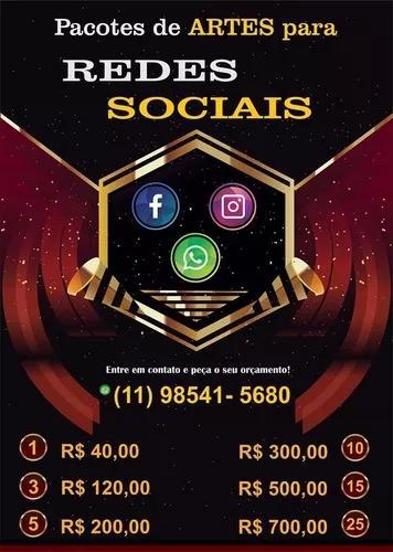 Pacotes criação de artes para redes sociais