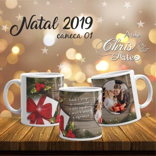 Pacotes de arte de canecas para o natal