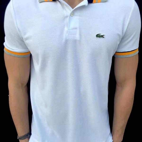 Camisa polo lacoste branca