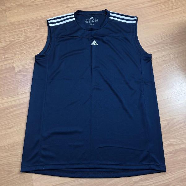 Camiseta regata machão dri fit adidas, cor azul, masculina