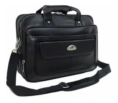 Bolsa pasta notebook grande couro masculino maleta executiva