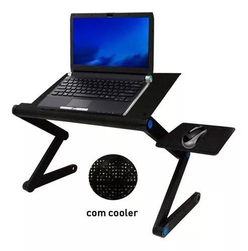 Mesa notebook suporte c/ cooler mouse pad laptop articulado