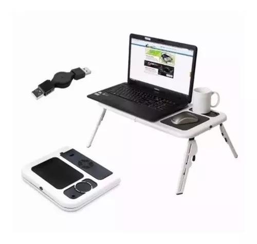 Mesinha notebook mesa cooler dobrável suporte mouse copo