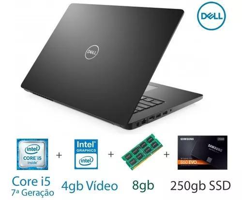 Notebook dell core i5 7º geração 8gb ram 250gb ssd
