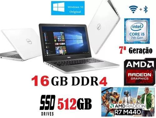 Notebook Dell Gamer I5 7ª Geração Ddr4/16gb/ssd512 /vga