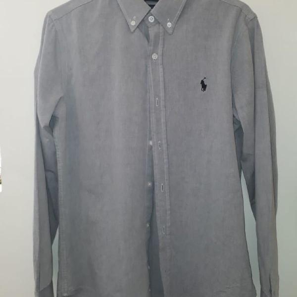 Ralph lauren, camisa cinza