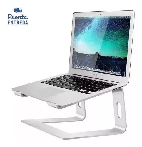Suporte de alumínio laptop stand prata notebook macbook