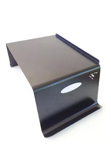 Suporte/porta - notebook/pc de cama/sofá - alumínio preto