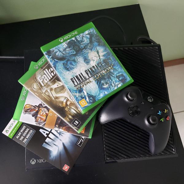 Xbox one + 4 jogos