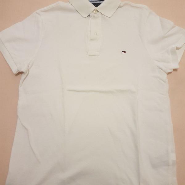 Camisa polo branca tommy hilfiger original