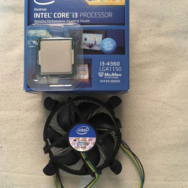 Processador intel i3 4360 3.70ghz na caixa com cooler