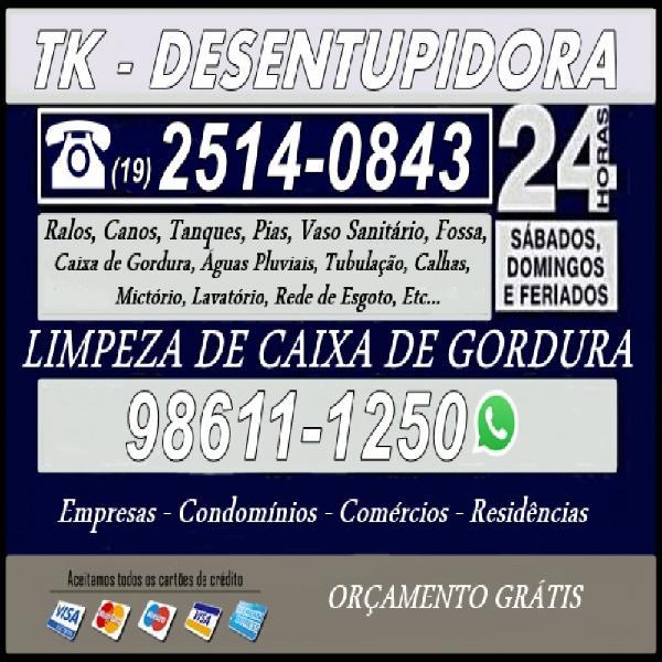 19) 98611-1250 desentupidora de esgoto na vila anhanguera