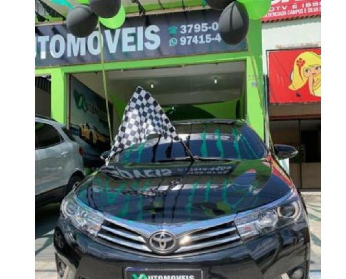 Corolla XEI 2015 Preto 2.0 modelo novo com GNV