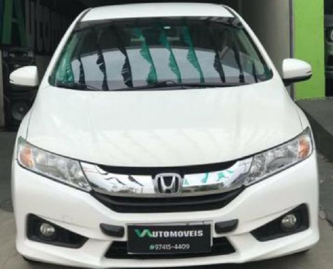 Honda City 2015 autom. e banco de couro Branco