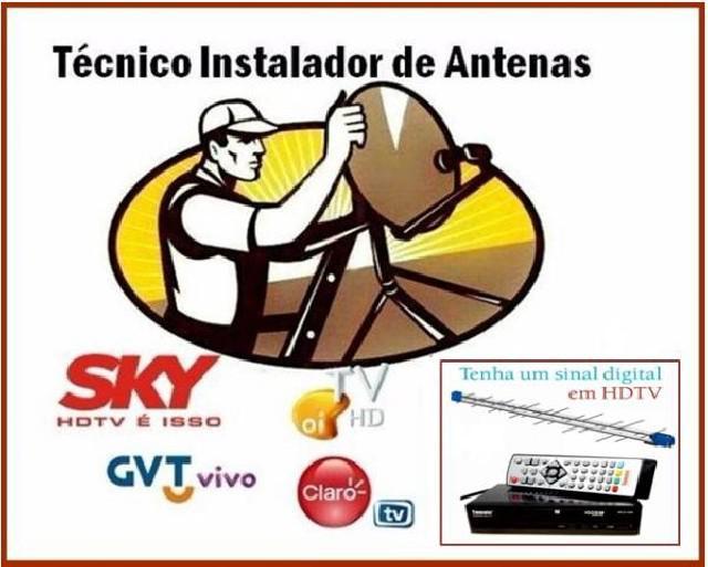 Instalador de antena betim e regiao