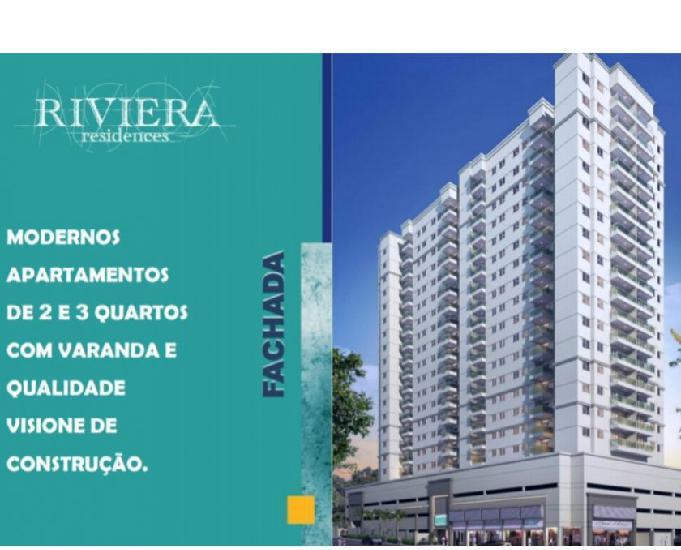 Riviera Residences 2 qts 58,76m². Bairro da Luz Nova