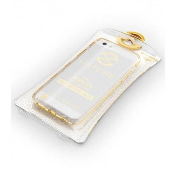 Capa para iphone 6, 6s e 7 ouro gatche