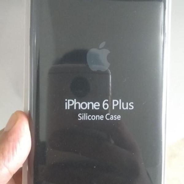 Capinha silicone iphone 6 plus preto apple