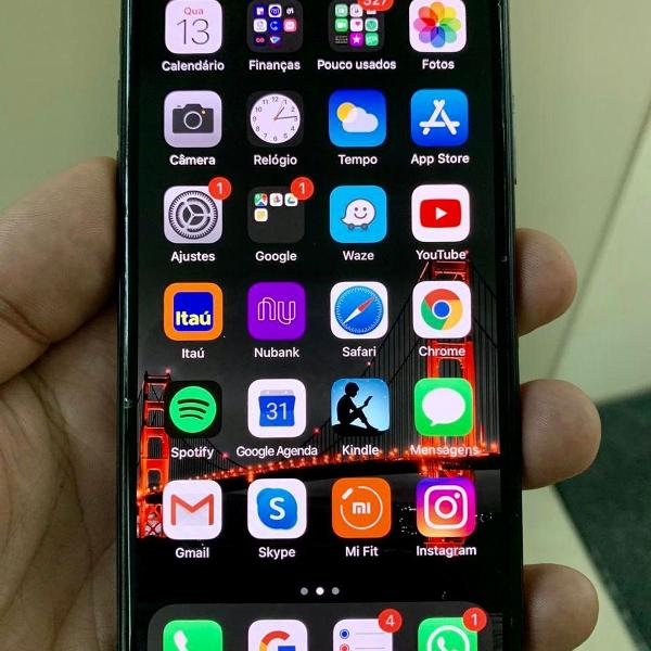Iphone x 256gb preto brilhante