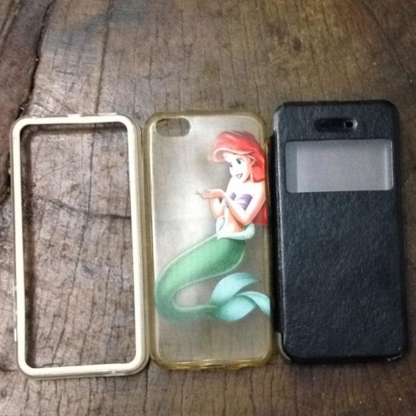 kit 3 cases iphone 5c capinha