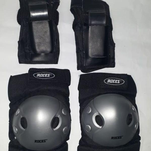 Kit proteção para skate / patins - roces 4 peças - p