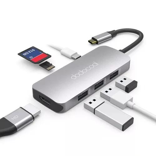 Adaptador hub dodocool macbook ultrabook usb tipo c hdmi 4k