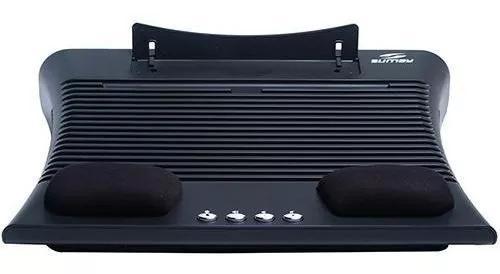 Base para notebook c/alto falantes e descanso p/pulso sm-bnb