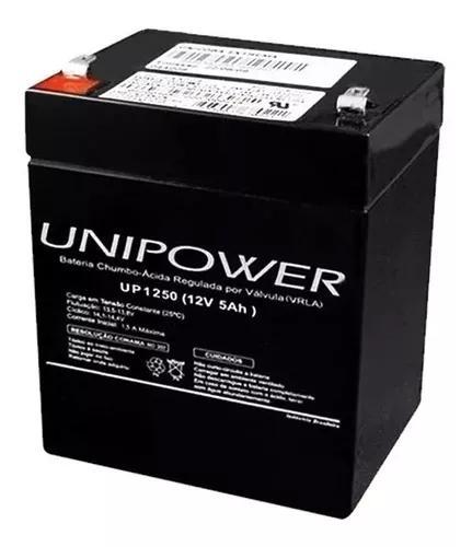 Bateria 12v 5ah unipower nobreak sms apc up1250 nota fiscal