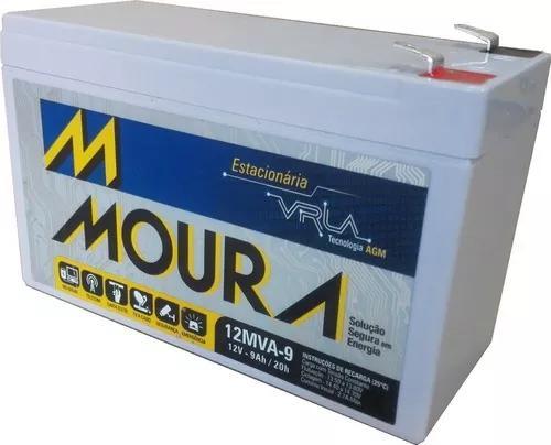 Bateria 12v 9ah moura equip eletricos, nobreak