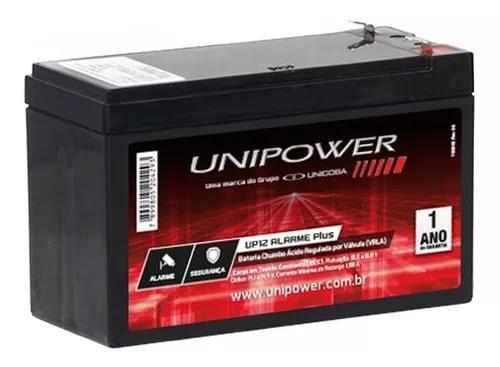 Bateria 12v unipower alarme cerca elétrica segurança cftv