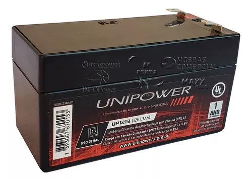 Bateria gel selada 12v 1.3ah - tec. agm vrla nobreak wp