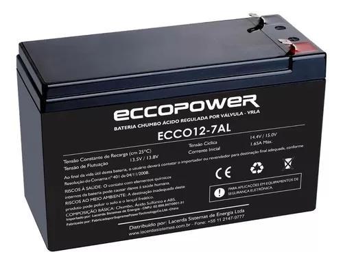 Bateria selada 12v 7ah vrla alarme cerca eletrica cftv segur