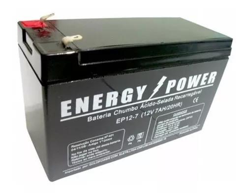 Bateria selada gel 12v 7a para nobreak - 1 ano garantia