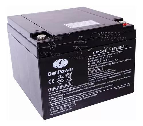 Bateria selada vrla 12v 26ah - tecnologia vrla agm
