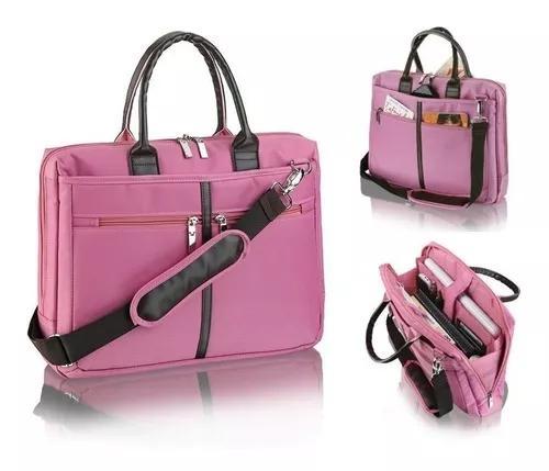 Bolsa pasta para notebook tiracolo executiva ella rosa